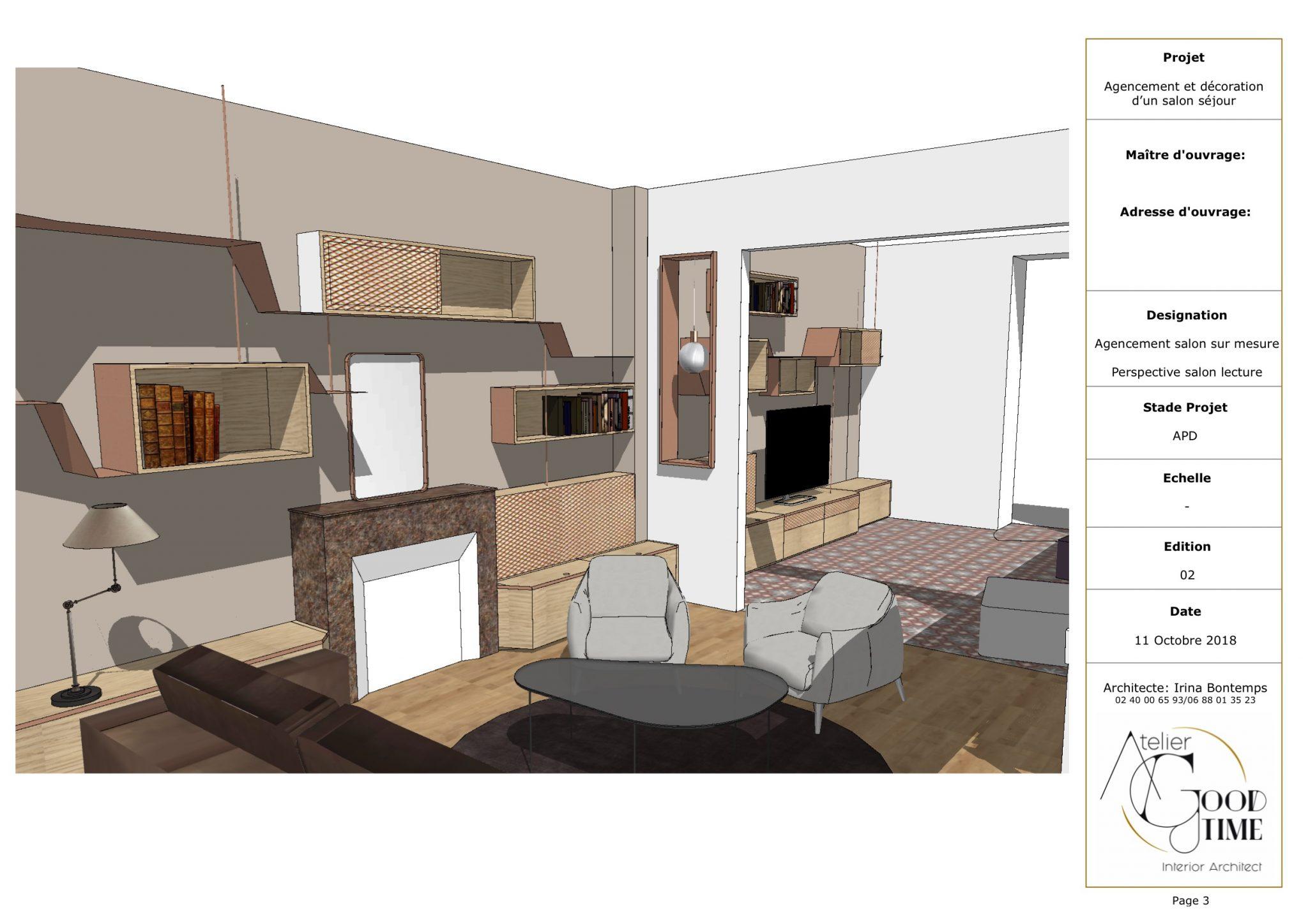 Plan Amenagement Salon Sejour projet agencement double salon sejour - atelier goodtime